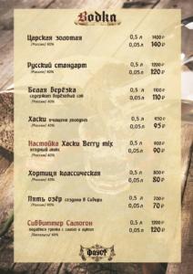 vodkalisting